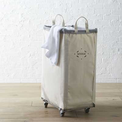 Steele ® Vertical Canvas Laundry Bin - Crate and Barrel