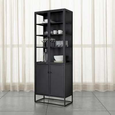 Casement Black Tall Cabinet - Crate and Barrel
