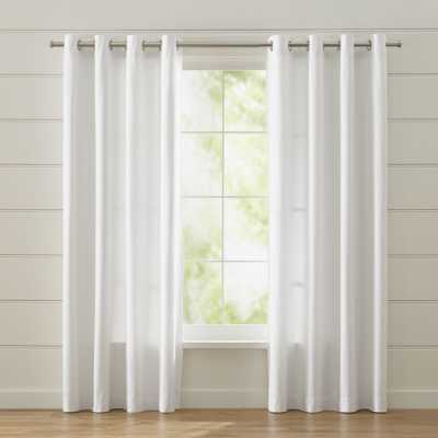 "Wallace 52""x84"" White Grommet Curtain Panel - Crate and Barrel"