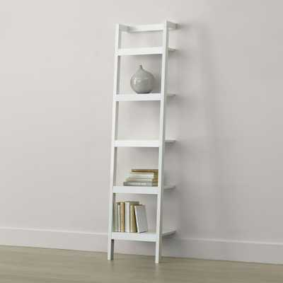"Sawyer White Leaning 18"" Bookcase - Crate and Barrel"