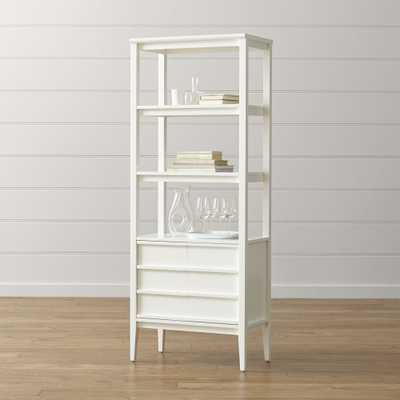 Spotlight White Bookcase - Crate and Barrel