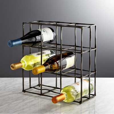 Crest 9-Bottle Wine Rack - Crate and Barrel