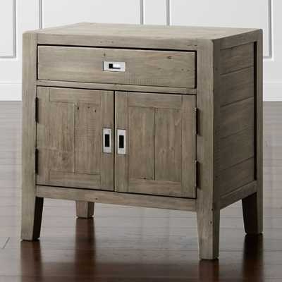 Morris Ash Grey Nightstand - Crate and Barrel