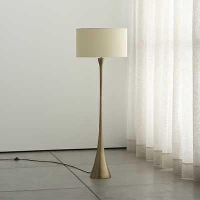 Melrose Brass Floor Lamp - Crate and Barrel