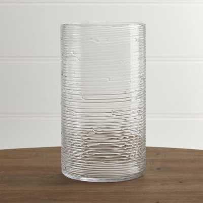 Spin Glass Extra Large Hurricane Candle Holder/Vase. - Crate and Barrel