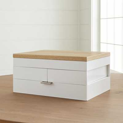 Selma White Jewelry Box - Crate and Barrel