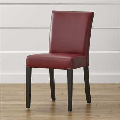 Lowe Red Leather Dining Chair - Crate and Barrel