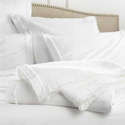 Washed Organic King Coverlet - Crate and Barrel