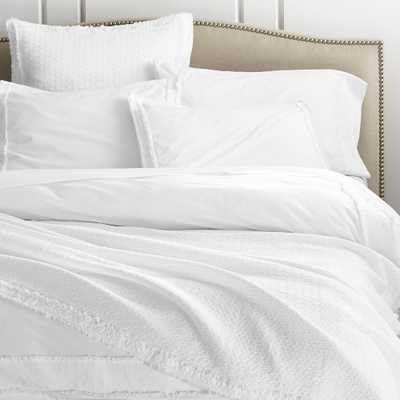 Washed Organic King Duvet Cover - Crate and Barrel