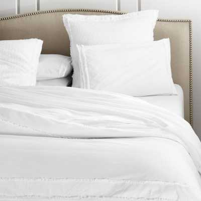 Washed Organic Full/Queen Duvet Cover - Crate and Barrel