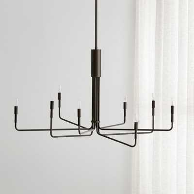 Clive 8-Arm Bronze Chandelier - Crate and Barrel