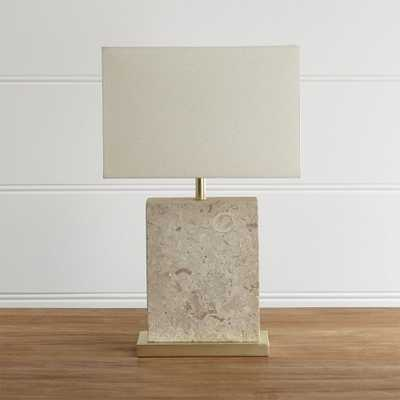 Mactan Stone Table Lamp - Crate and Barrel