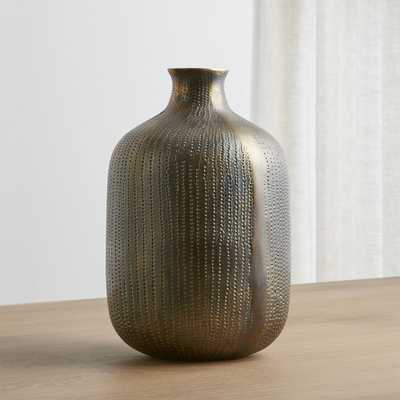 Scout Brass Vase - Crate and Barrel