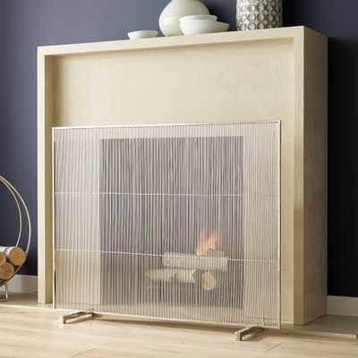 Polished Nickel Fireplace Screen - Crate and Barrel