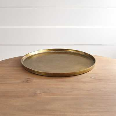 Element Metal Antiqued Brass Tray - Crate and Barrel