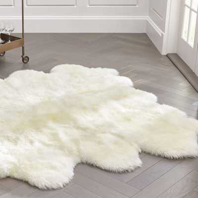 "Sheepskin Ivory 64""x70"" Throw/Rug - Crate and Barrel"