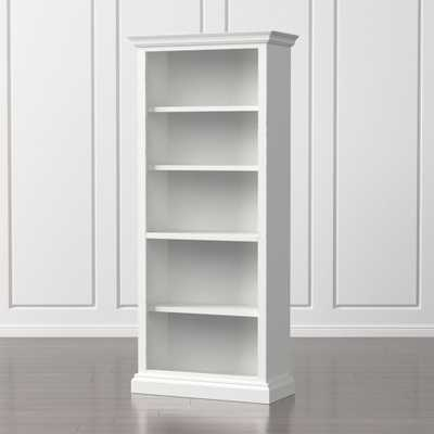 Cameo White Open Bookcase - Crate and Barrel
