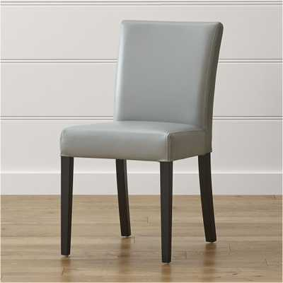 Lowe Pewter Leather Dining Chair - Crate and Barrel