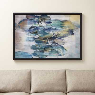 Turquoise Assemblage Print - Crate and Barrel