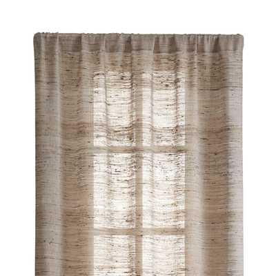 "Hayden 48""X84"" Silk Curtain Panel - Crate and Barrel"