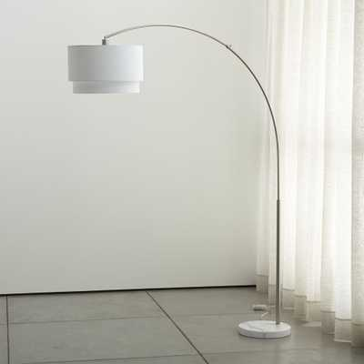 Meryl Arc Floor Lamp, nickel - Crate and Barrel
