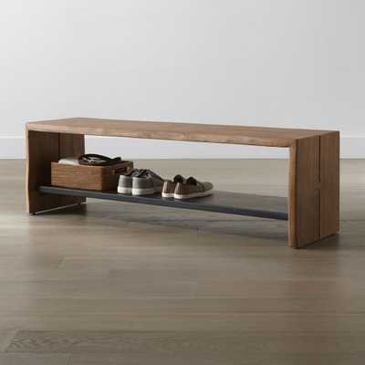 Yukon Natural Entryway Bench with Shelf - Crate and Barrel