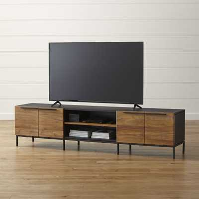 """Rigby 80.5"""" Large Media Console with Base - Crate and Barrel"""