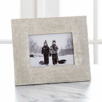 """Silver Bark 5""""x7"""" Picture Frame - Crate and Barrel"""
