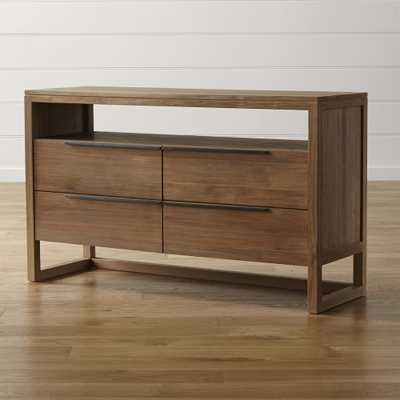 Linea II Natural Four-Drawer Dresser - Crate and Barrel