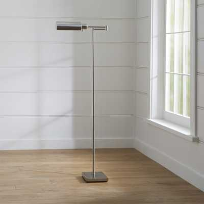 Adams Nickel Pharmacy Floor Lamp - Crate and Barrel