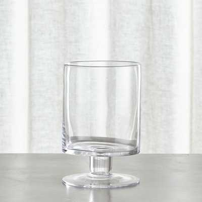 London Small Clear Hurricane Candle Holder - Crate and Barrel