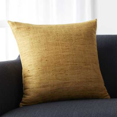 """Trevino Sunflower Yellow 20"""" Pillow with Down-Alternative Insert - Crate and Barrel"""