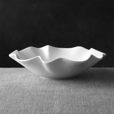 "White Ruffle 15"" Large Bowl - Crate and Barrel"