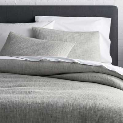 Lindstrom Grey King Duvet Cover - Crate and Barrel