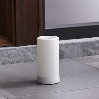 """Outdoor 3""""x6"""" Pillar Candle with Timer - Crate and Barrel"""