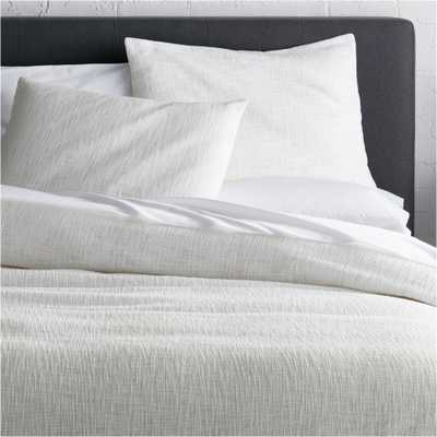 Lindstrom White Full/Queen Duvet Cover - Crate and Barrel