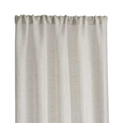 "Linen Sheer 52""x84"" Natural Curtain Panel - Crate and Barrel"