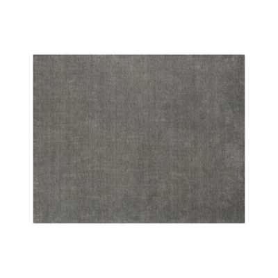 Baxter Grey Wool 8'x10' Rug - Crate and Barrel