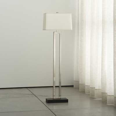 Duncan Antiqued Silver Floor Lamp - Crate and Barrel