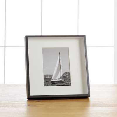 Brushed Gunmetal 5x7 Frame - Crate and Barrel