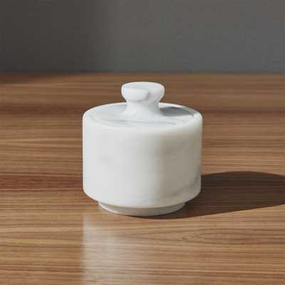 French Kitchen Marble Salt Cellar - Crate and Barrel