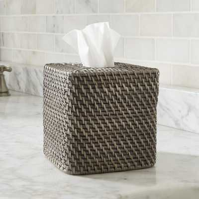 Sedona Grey Square Tissue Box Cover - Crate and Barrel