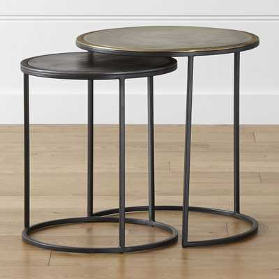 Knurl Nesting Accent Tables Set of Two - Crate and Barrel