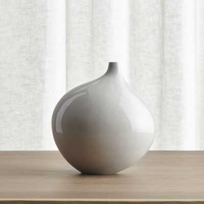 Dove Grey Small Vase - Crate and Barrel
