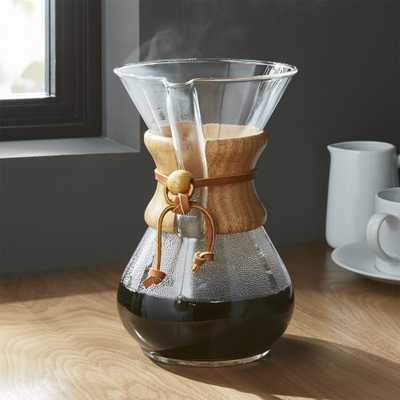 Chemex 6-Cup Coffeemaker with Wood Collar - Crate and Barrel