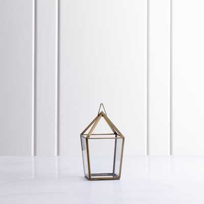 Lillian Brass Metal Small Lantern - Crate and Barrel