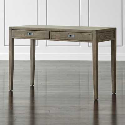 "Morris 48"" Ash Grey Writing Desk - Crate and Barrel"
