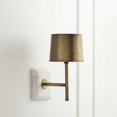Astor Brass Sconce - Crate and Barrel