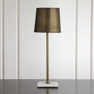 Astor Brass Buffet Lamp - Crate and Barrel