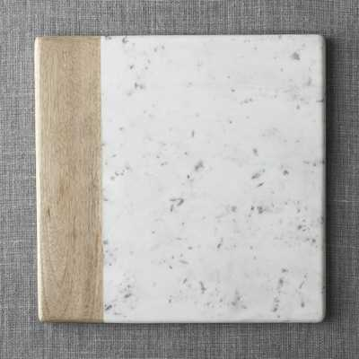 Wood Marble Square Platter - Crate and Barrel